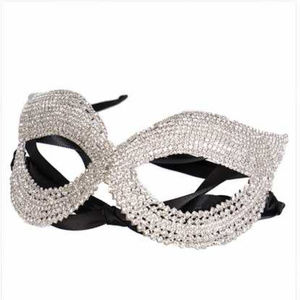 Crystal Rhinestone Pave Masquerade Mask